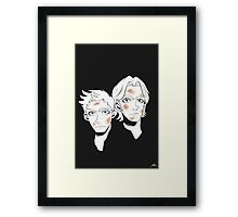 Psycho Brothers Framed Print