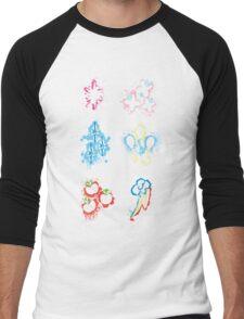MLP Splatter Cutie Marks Men's Baseball ¾ T-Shirt