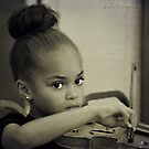 The little princess plays the violin by Scott Mitchell