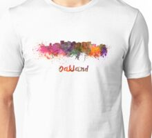 Oakland skyline in watercolor Unisex T-Shirt