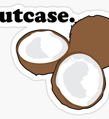 nutcase. (coconut) Sticker