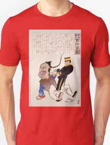 Humorous picture showing a soldier extracting teeth from a Chinese man 001 T-Shirt