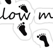 follow me Sticker