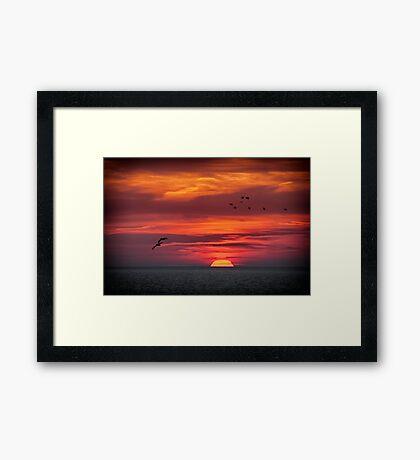 Sunset February 24, 2013 Framed Print