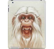 The White Angry Monkey iPad Case/Skin