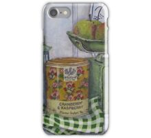 Scale and apples still life iPhone Case/Skin