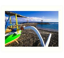 Traditional Balinese Fishing Boat Art Print
