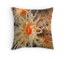 Flowers of The Sea Throw Pillow