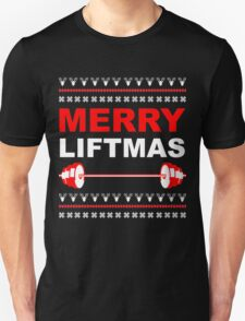 Merry Liftmas, Weightlifting Christmas Ugly Sweater Unisex T-Shirt