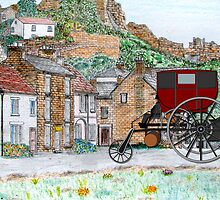 Richard Trevithick's London Steam Carriage 1803 by Dennis Melling