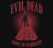 Evil Dead Army Of Darkness Skull Mountain T Shirt by Fangpunk