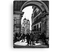 Arched entrance Plaza Mayor - Madrid Canvas Print