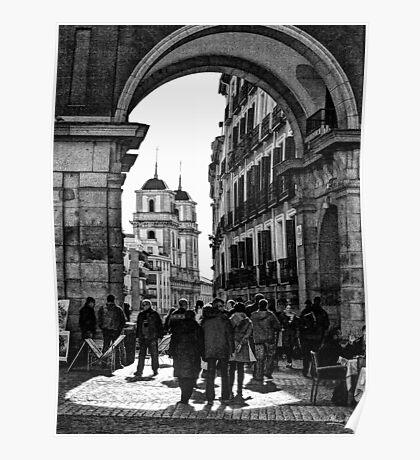Arched entrance Plaza Mayor - Madrid Poster