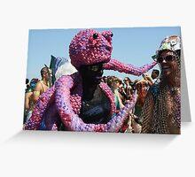 Octopus Man, Mermaid Parade, Coney Island Greeting Card