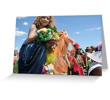 Poseidon & Mermaid, Mermaid Parade, Coney Island Greeting Card