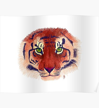 Colourful Tiger Poster