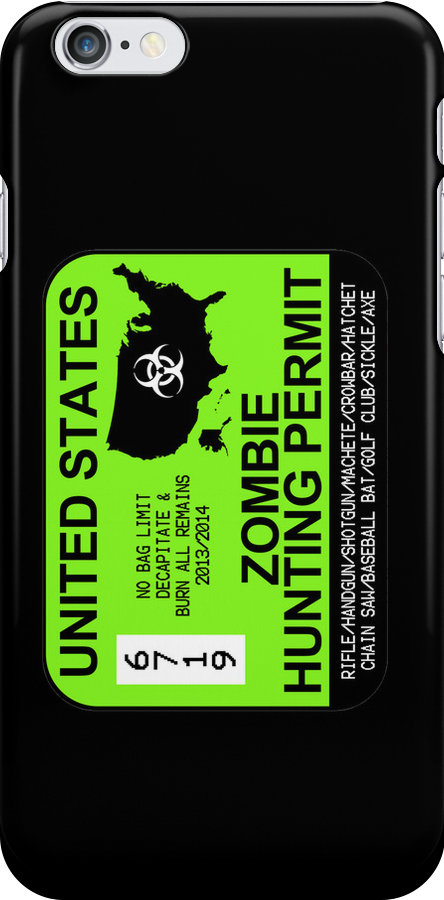 Zombie Hunting Permit 2013/2014 by zorpzorp