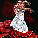 Poka dot and Flamenco by Anne Guimond