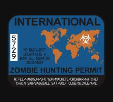 International Zombie Hunting Permit Kids Clothes