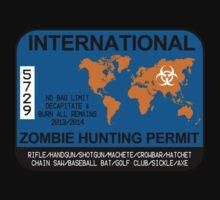 International Zombie Hunting Permit Kids Tee