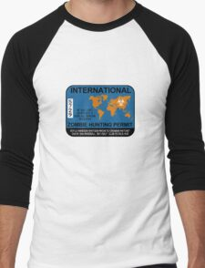 International Zombie Hunting Permit Men's Baseball ¾ T-Shirt