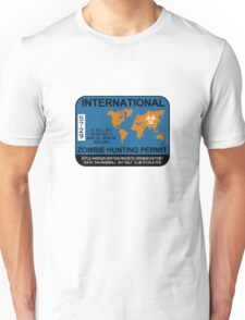 International Zombie Hunting Permit Unisex T-Shirt