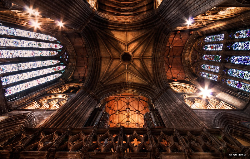 Look Up ! || Ceiling at Glasgow Cathedral, Glasgow by Anir Pandit