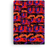 Textile Collage and Assemblage Canvas Print