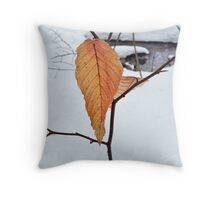 Leaves and a puddle Throw Pillow