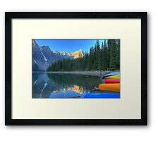 Moraine Lake and Caneos Framed Print