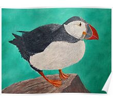 Huffin the Puffin Poster