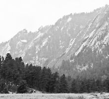 Flatiron in Black and White Boulder Colorado by Bo Insogna