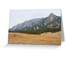 Flatirons Boulder Colorado Winter View  Greeting Card