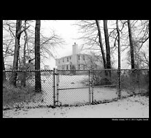 House With Chain-Link Fence In Winter - Middle Island, New York  by © Sophie W. Smith