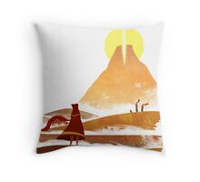 Journey On and On Throw Pillow