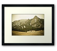 Old Time Flatiron View Framed Print