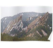 Second and Third Flatirons Boulder Colorado Poster