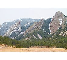 Three Flatirons Boulder Colorado Photographic Print