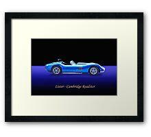 Lister - Cambridge Roadster w/ ID Framed Print