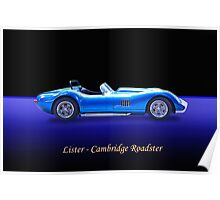 Lister - Cambridge Roadster w/ ID Poster