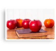 Back to School Apples Canvas Print