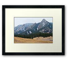 Three Flatirons Boulder Colorado Winter View Framed Print