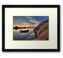Solid Side Framed Print