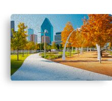 Downtown Park Canvas Print