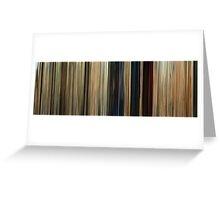 Moviebarcode: Seven Psychopaths (2012) Greeting Card