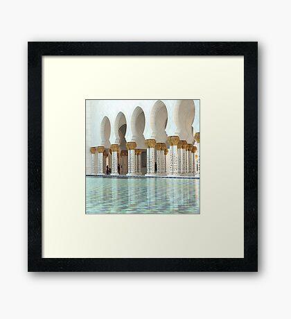 Reflective pools for reflection Framed Print