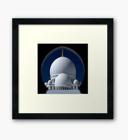 Sheikh Zayed Grand Mosque; Abu Dhabi  Framed Print