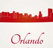 Orlando skyline in red Sticker