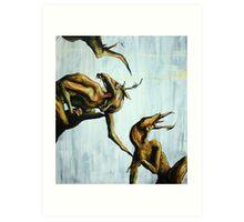 Horn Lake: My Baby Calf (Large Scale Acrylic) Art Print