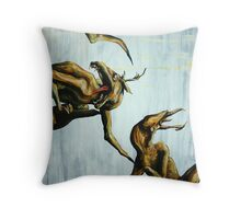 Horn Lake: My Baby Calf (Large Scale Acrylic) Throw Pillow